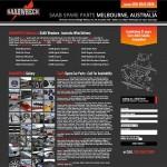 Saab parts landing page design