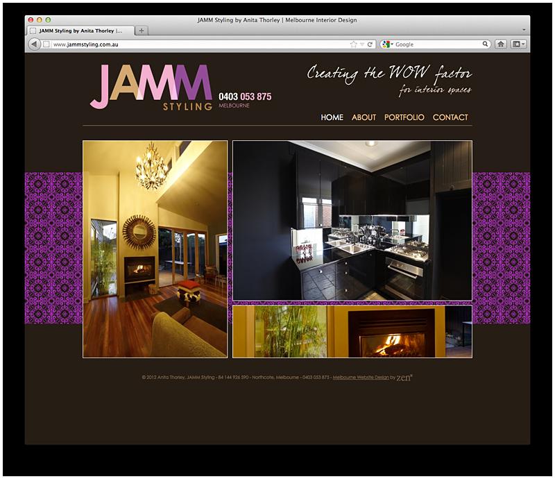 Melbourne Website Design JAMM Styling
