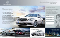 Mercedes Benz Landing Page