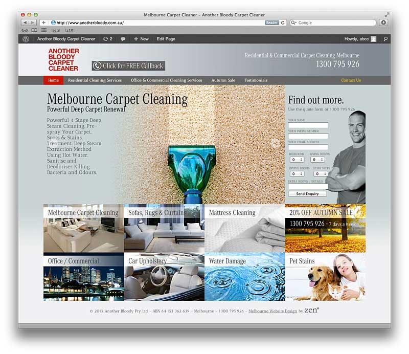 Melbourne Website Design Carpet Cleaning