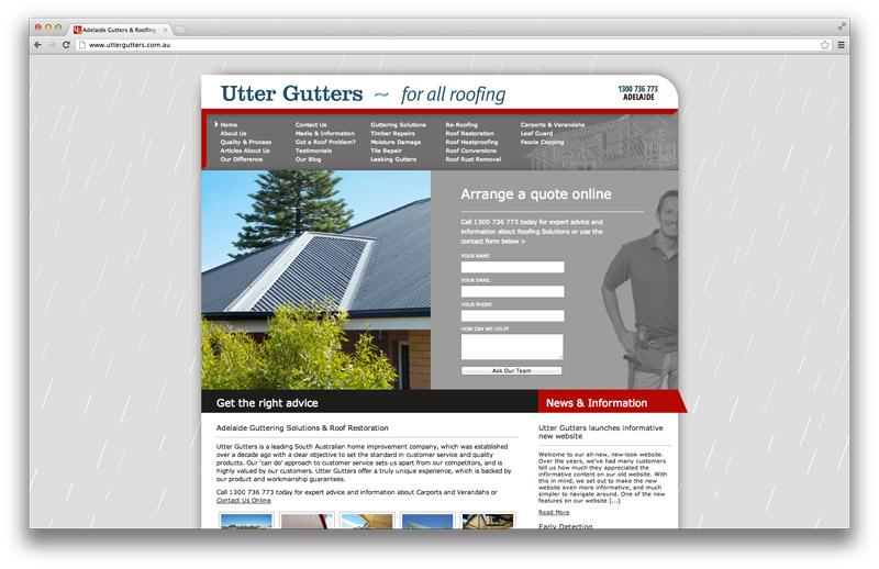 Melbourne Web Design Utter Gutters Melbourne Website