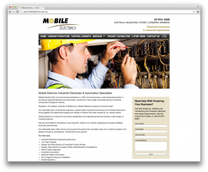 melbourne web design for mobile electrics