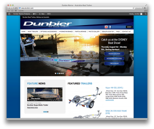 Dunbier Boat Trailers Web Design